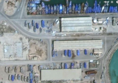 Zuwara Harbour South Warehouses South 2015 via Google Earth